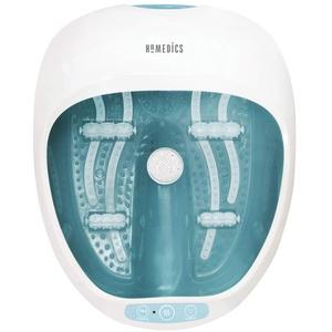 HoMedics Fußbad - Premium Spa Deluxe Fußbadewanne mit Massage & Wärme, Fuß-Sprudelbad für die Füße & schöne Beine - Inkl. Hydro-&Vibrationsmassage, 4 Lufteisen, 2 Pediküre-Einsätze - Bis Gr. 47