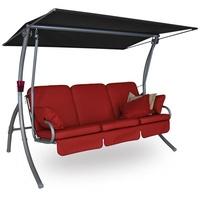 Angerer Primero Premium Design Leder rot 3-Sitzer