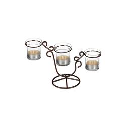 relaxdays Kerzenhalter Kerzenhalter 9.5 cm x 15.5 cm x 25 cm