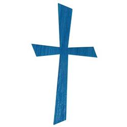 Rayher Wachsmotiv Kreuz blau 1 Pack
