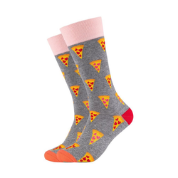 Fun Socks Socken Funny Pizza (2-Paar) mit lustigem Pizza-Motiv