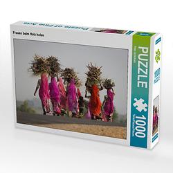 Frauen beim Holz holen Lege-Größe 64 x 48 cm Foto-Puzzle Bild von Peter Schürholz Puzzle