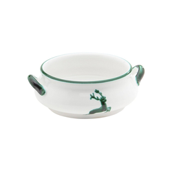 Gmundner Keramik Suppenschüssel Suppenschale Hirsch 0,37 l, Keramik grün