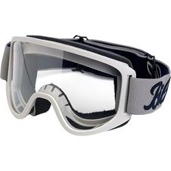 Biltwell Moto 2.0, Crossbrille - Weiß/Grau Klar
