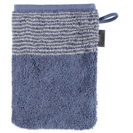 CAWÖ Waschhandschuh Two-Tone in nachtblau, 16 x 22 cm