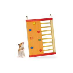 relaxdays Kleintierklettergerüst Hamster Zubehör aus Holz