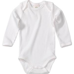Baby Body, Gr. 86/92, in Bio-Baumwolle, weiß, für Mädchen und Jungen