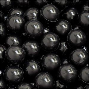 LittleTom 50 Bälle für Bällebad 5,5cm Babybälle Plastikbälle Baby Spielbälle Schwarz
