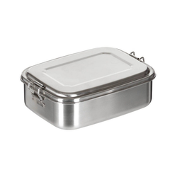 FoxOutdoor Lunchbox Lunchbox, Edelstahl, Stülpdeckel 1000 ml