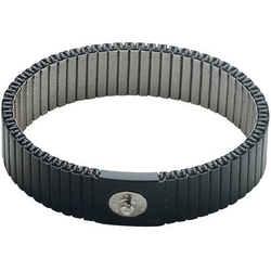 BJZ C-189 146 4,0 ELL ESD-Handgelenkband Grau beliebig zu kürzen Druckknopf 4mm
