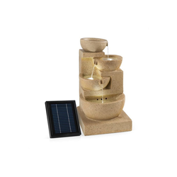 blumfeldt Gartenbrunnen Korinth Zierbrunnen Gartenbrunnen 3W Solar LED Sandsteinoptik, 39 cm Breite