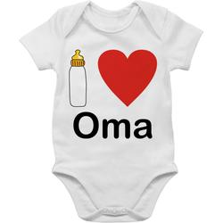 Shirtracer Shirtbody I love Oma Nuckelflasche - Strampler Motive - Baby Body Kurzarm 3/6 Monate
