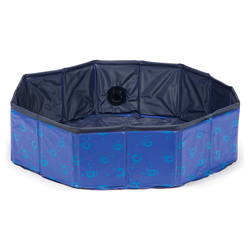 Karlie Doggy Pool Design blau, Maße: ø 80 x 20 cm