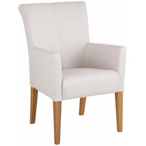 Home affaire Armlehnstuhl King bezogen mit Web- oder Strukturstoff, Microfaser oder Kunstleder weiß