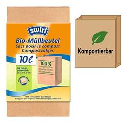10 swirl® Bio-Müllbeutel Bio-Müll Papierbeutel 10,0 l