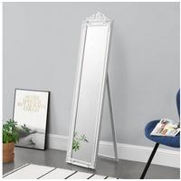 [en casa]® en.casa Standspiegel, Arezzo Ganzkörperspiegel kippbar 160x40cm weiß