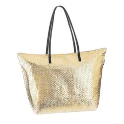 Fashy Strandtasche mit Reissverschluss goldfarben