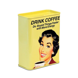 LOGOSHIRT Spardose mit lustigem Kaffee-Motiv bunt