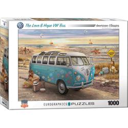 EUROGRAPHICS Puzzle Eurographics The Love & Hope VW Bus Puzzle, 1000 Puzzleteile bunt
