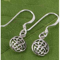 Guru-Shop Paar Ohrhänger Ethno Ohrringe keltischer Endlosknoten - Modell 1