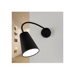 Licht-Erlebnisse Wandleuchte BANTA Moderne Wandlampe Schwarz flexibel mit Schalter Leselampe Bett Lampe