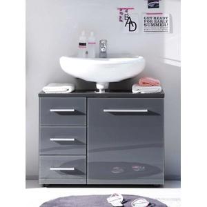 Waschbeckenunterschrank BEAM Glas grau BEGA CONSU 36-864-CO6 Grey (BHT 68x62x32 cm) Bega Consult