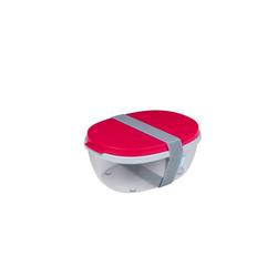 Mepal Frischhaltedose Frischhaltebox Salatbox Ellipse, Kunststoff, (1-tlg) rot