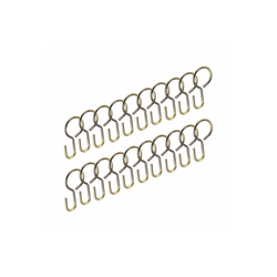 Seilhaken, Liedeco, Seilspanngarnituren, (Set, 20-St), für Seilspanngarnitur goldfarben