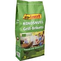 Favorit Kokosnuss Grill Briketts Premium 5 kg