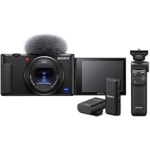 Sony Vlog-Kamera ZV-1 mit Sony GP-VPT2BT Bluetooth-Handgriff & Sony ECM-W2BT Bluetooth-Mikrofon