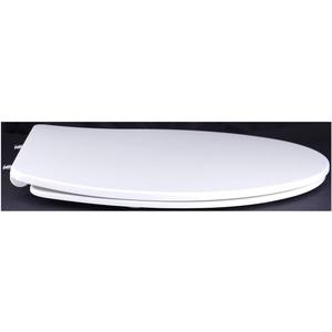 Grünblatt WC Sitz Slim Design Toilettendeckel oval Klodeckel mit Quick-Release-Funktion und Geräuschlose Absenkautomatik, Hochwertige Antibakterielle Duroplast (Weiß)