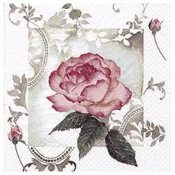 Linoows Papierserviette Servietten 20 Stück, Bezaubernde Vintage Rose,, Motiv Bezaubernde Vintage Rose