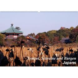 Tempel Schreine und Burgen Japans (Wandkalender 2021 DIN A2 quer)