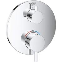 GROHE Atrio Thermostat-Wannenbatterie mit 2-Wege-Umstellung für Rapido SmartBox chrom 24138003