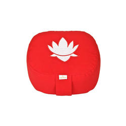 yogabox Yogakissen oval Lotus Stick BASIC rot