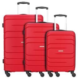 Nowi Milano 5.0 4-Rollen Kofferset 3tlg. rot