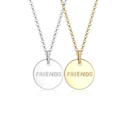 Elli Ketten-Set Partnerkette Friends Infinity Bi-Color 925 Silber