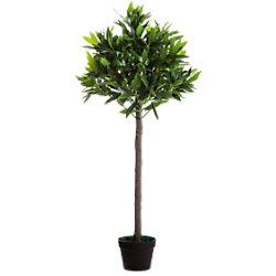 Paperflow Künstliche Pflanze Olivenbaum Grün 190 x 19 x 1.250 mm