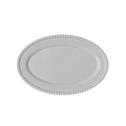 PotteryJo DARIA Oval Platte Weiß 35 cm