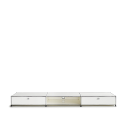 USM Lowboard weiß, Designer Prof. Fritz Haller, 21.5x228x38 cm