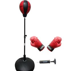 Box-Set: Punchingball, Boxhandschuhen & Minipumpe schwarz/rot