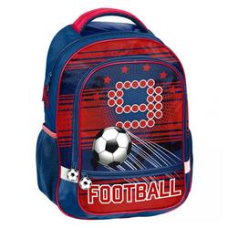 PASO Kinderrucksack, SCHULRANZEN - FUSSBALL / FOOTBALL - BLAU / ROT blau