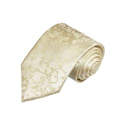 Paul Malone Krawatte Herren Hochzeitskrawatte floral 100% Seide Bräutigam Hochzeit Schlips Breit (8cm), champagner 948 gelb breit - 8 cm x 150 cm