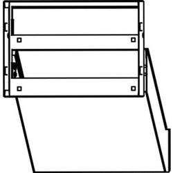 Ritto 1873270,Durchwurf-Briefkästen 2 WE, weiß