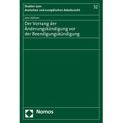 Der Vorrang der Änderungskündigung vor der Beendigungskündigung als Buch von Jens Jüttner