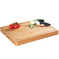 KESPER for kitchen & home Tranchierbrett, Bambus, 50 x 40 x 5 cm