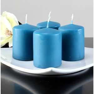 Kerzen Safe Candle Markenkerzen Adventskerzen Stumpenkerzen 80/60 mm blau 12 Stk.