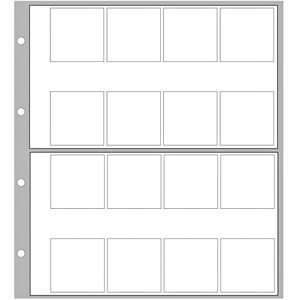 """2x 5er Pack Ergänzungsblatt SAFE 8563 für Münzalbum """"Designo""""   16 Fächer bis 32 mm"""