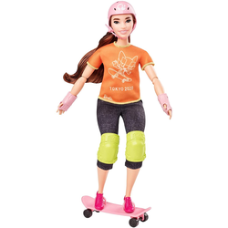 Spielset Barbie Puppe Olympics Skateboarder