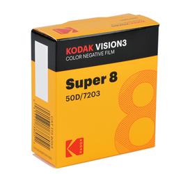 KODAK Vision3 50D 8mm für Super 8 Schmalfilmkameras Farbnegativfilm